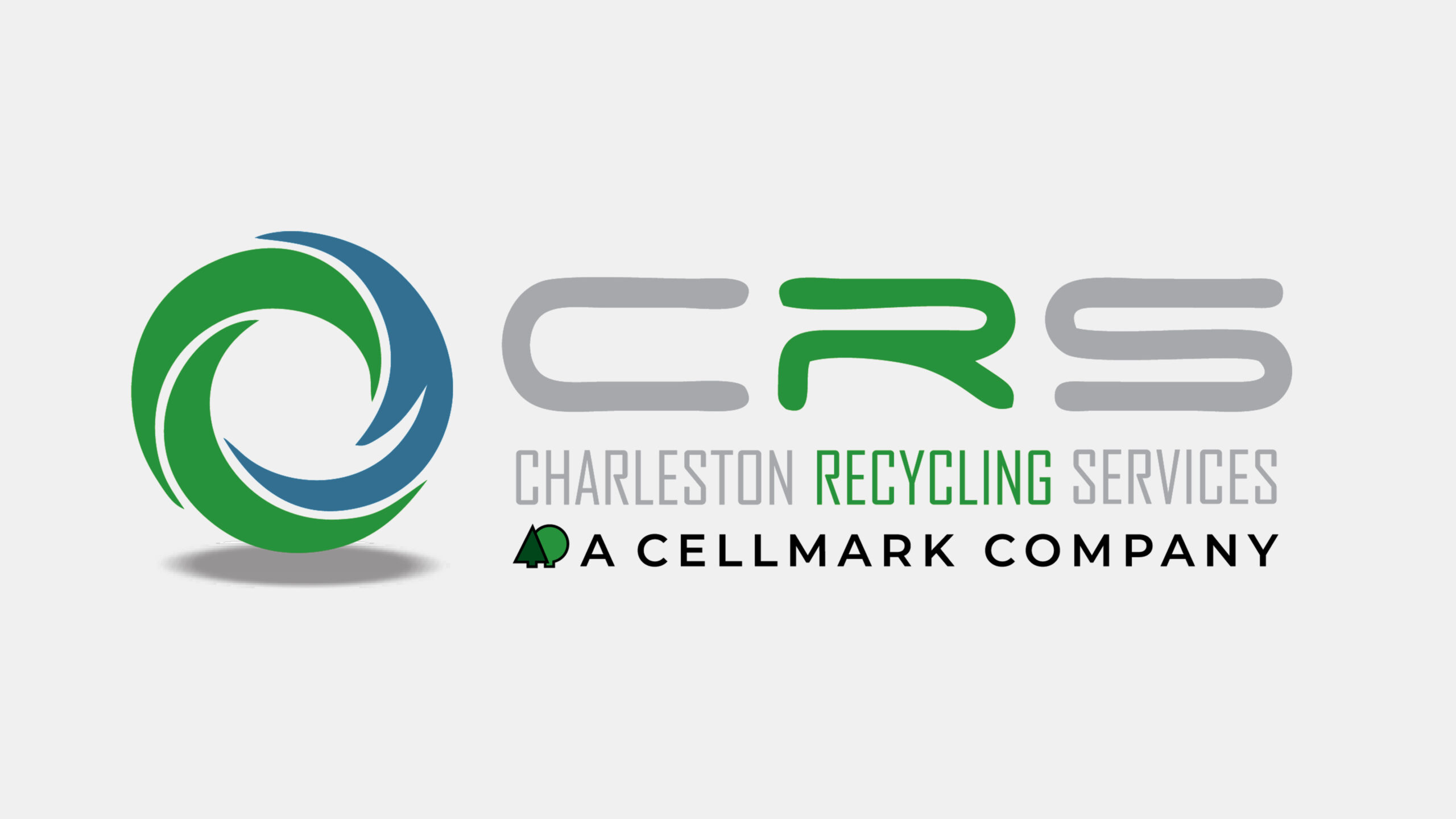 charleston recycling services logo on grey background